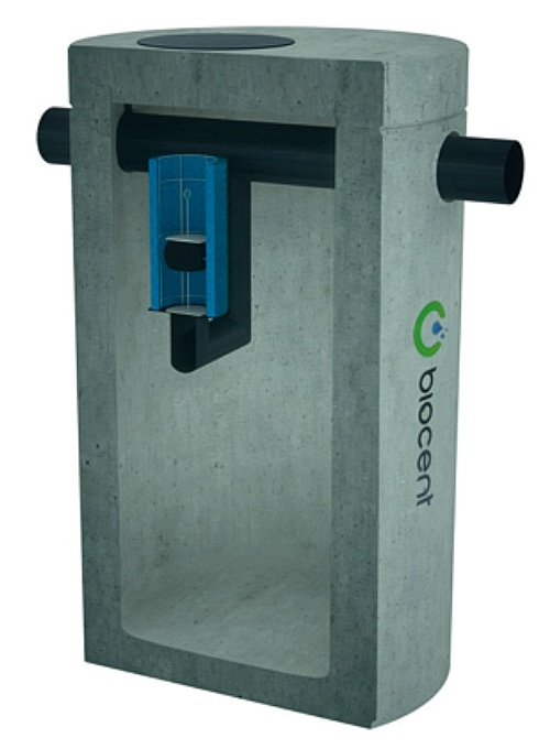 Coalescence Separator from concrete with a BY-PASS BIOSEP-CB