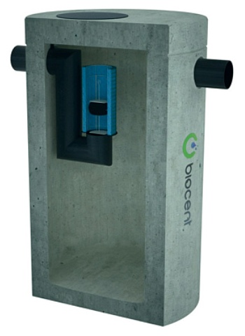 Coalescence Separator from concrete with sedimentation basin BIOSEP-OC